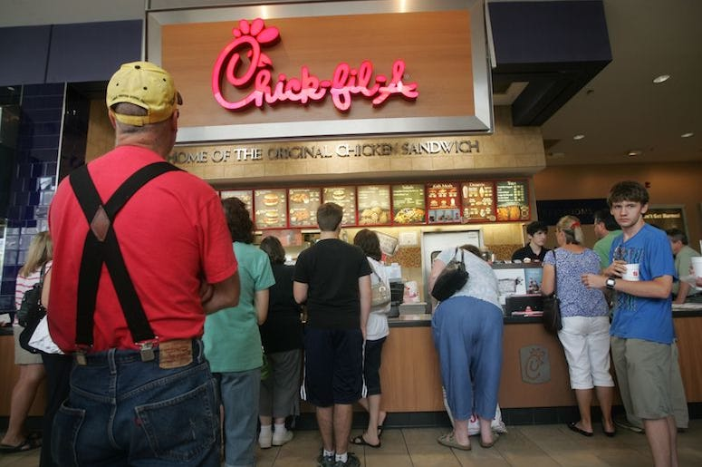 Chick-fil-A, Line, Customers, Paramus Park Mall, 2012