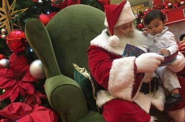 Santa Claus, Child, Reading, Christmas Eve