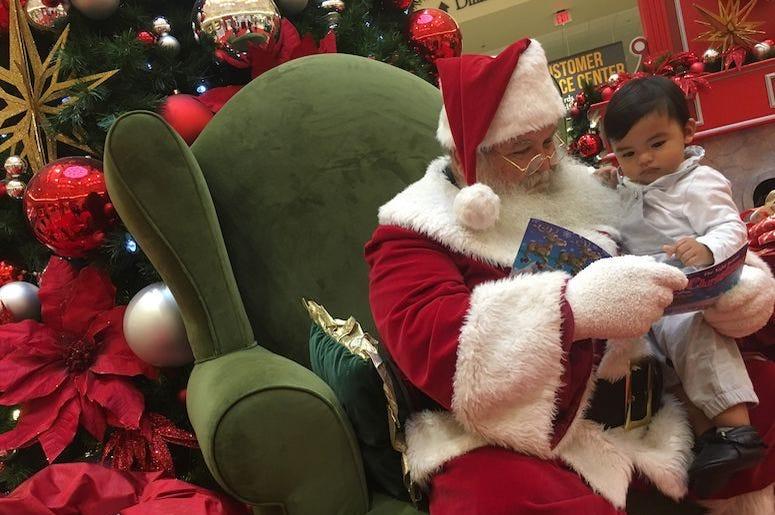 Santa Claus, Child, Reading, Christmas Eve