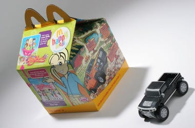 McDonald's, Happy Meal, Toy, Box, Studio Shot