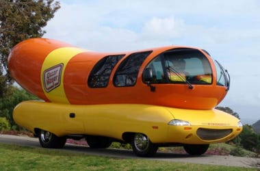 Behold the majestic wonder of the Oscar Mayer Wienermobile. This is a 2004 model. Oscar Mayer Wienermobile Art