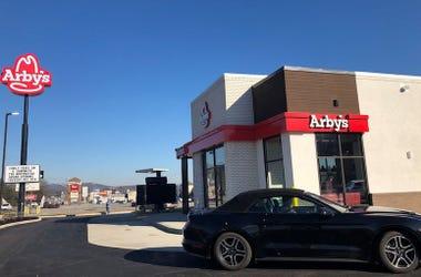Arby's, Exterior, Drive Thru, Blue Sky, Modern