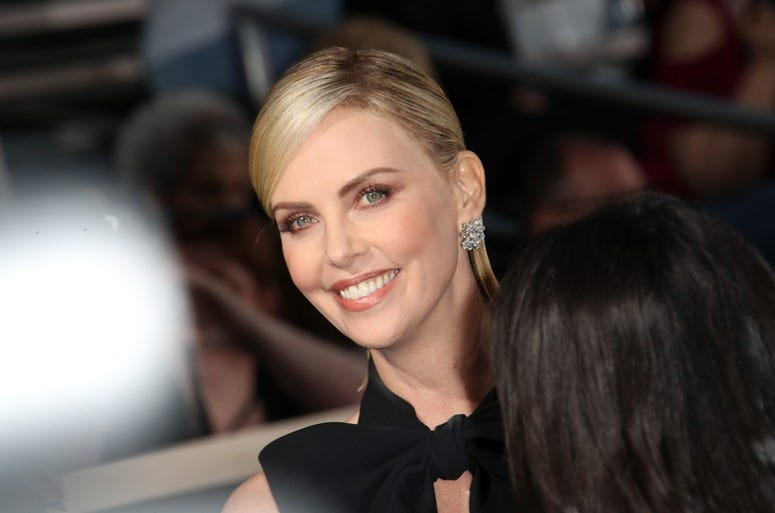 Jan 6, 2019; Beverly Hills, CA, USA; Charlize Theron arrives at the 76th Golden Globe Awards at the Beverly Hilton.