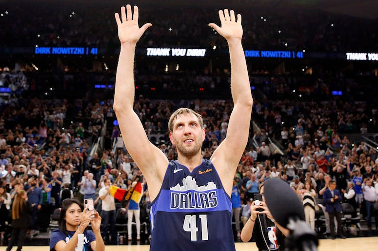 Dirk Nowitzki, Dallas Mavericks, Waves, San Antonio Spurs, AT&T Center, 2019