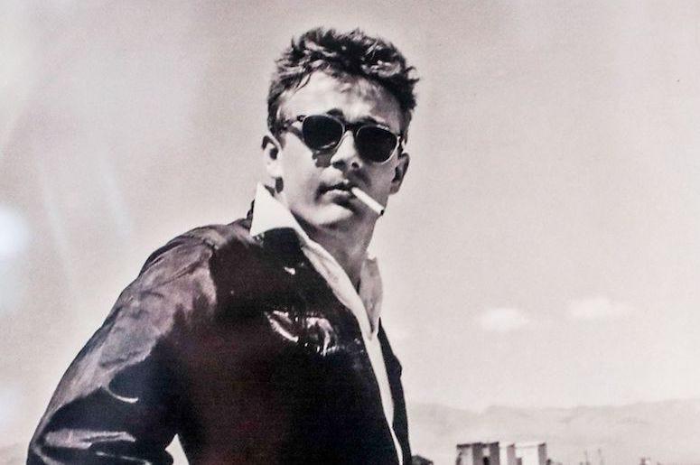 James Dean, Black Driving Suit, Fairmount Historical Museum, Photograph