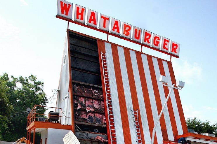 Whataburger, Last Remaining A-frame, Sign, Close Up, 2007