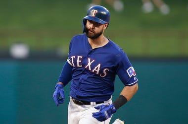 Joey Gallo, Rounding Third, Baseball, Game, Home Run, Blue Jersey, 2019