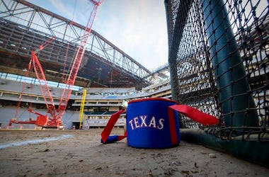 Globe Life Field, Texas Rangers, Under Construction, Ball Bag, 2019