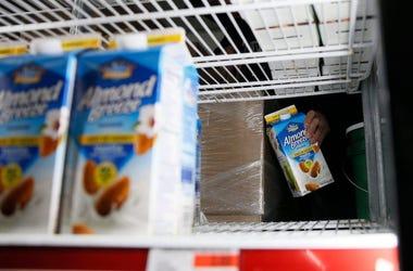 Almond Milk, Milk, Carton, Shelves, Restocking