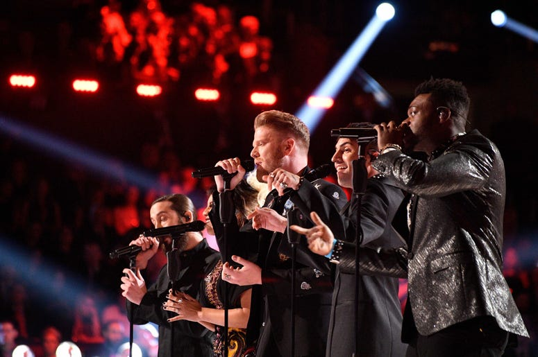"""Pentatonix Share Their Version Of """"Rockin' Around The Christmas Tree"""" From Tonight's Special: A ..."""
