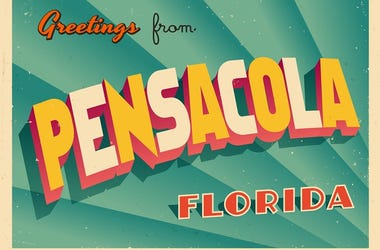 Vintage Touristic Greeting Card From Pensacola, Florida