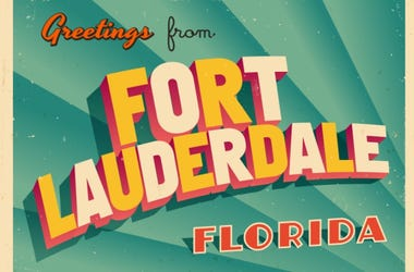 Vintage Touristic Greeting Card From Fort Lauderdale, Florida