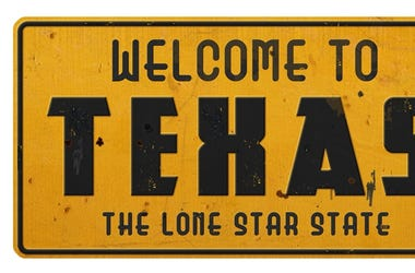 Texas Road Sign Welcome to Texas Grunge