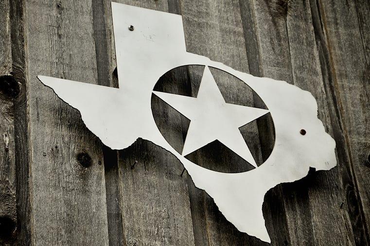 Silver badge of Texas