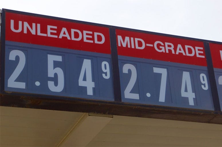 Gas Prices Sign