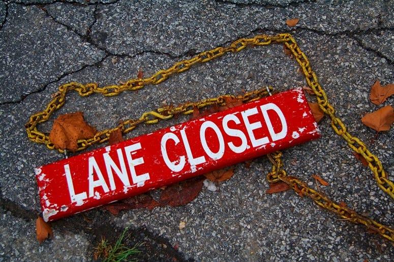 Lane Closed