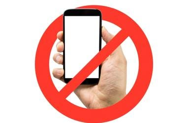No Cell Phones Permitted