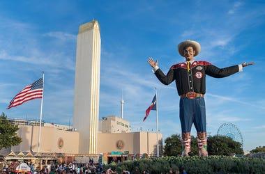 Big Tex at a previous State Fair of Texas