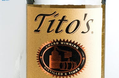 Tito's Vodka, Label, Bottle