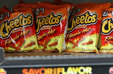 Cheetos, Flamin' Hot Crunchy, Shelf, Store, 2012