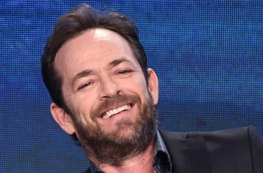 """PASADENA, CA - JANUARY 8 - Luke Perry onstage during the """"Riverdale"""" panel at the CW 2017 Winter TCA Tour at the Langham Hotel on January 8, 2017 in Pasadena, California"""