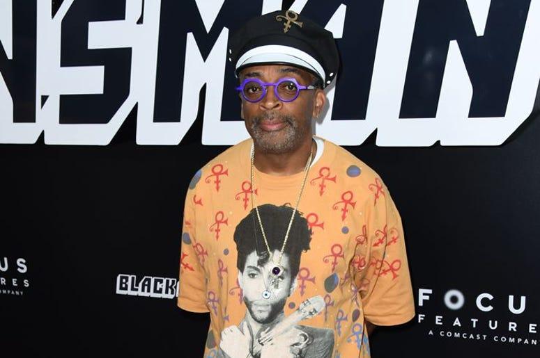 "08 August 2018 - Beverly Hills, California - Spike Lee. Premiere Of Focus Features' ""BlacKkKlansman"" held at Samuel Goldwyn Theater"