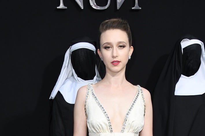 "04 September 2018 - Hollywood, California - Taissa Farmiga. ""The Nun"" Los Angeles Premiere held at TCL Chinese Theatre"