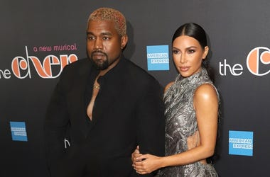 """12/3/2018 - Kanye West and Kim Kardashian West attend the opening night of """"The Cher Show"""" on Broadway at the Neil Simon Theatre in New York."""