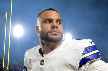 Dallas Cowboys quarterback Dak Prescott (4) walks off the field after a 30-22 loss against the Los Angeles Rams in the NFL Divisional Round at the Los Angeles Memorial Coliseum on Saturday, Jan. 12, 2019.