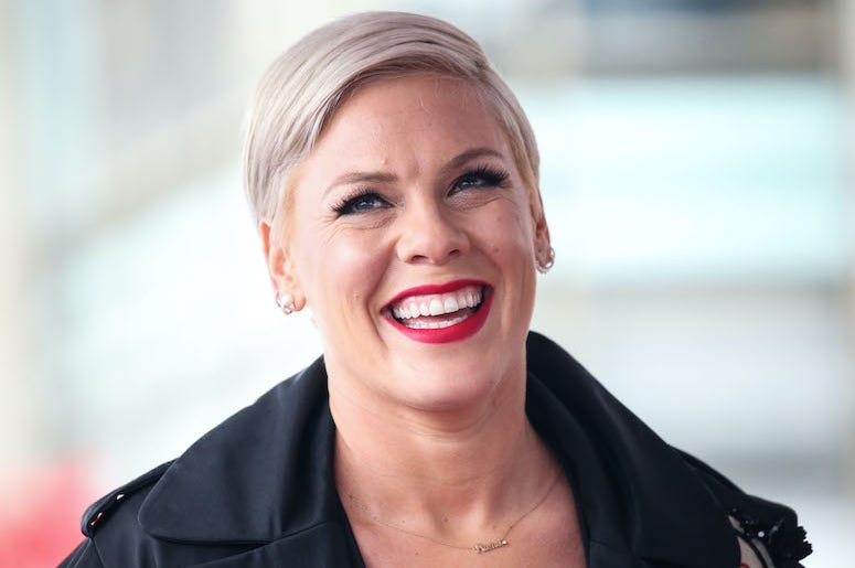 Pink, Alecia Moore, Hollywood Walk of Fame, Ceremony, Smile, 2019