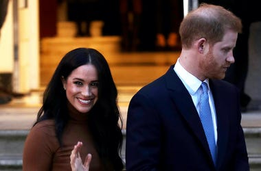 Meghan Markle, Prince Harry, Smile, Wave, Canada House, 2020