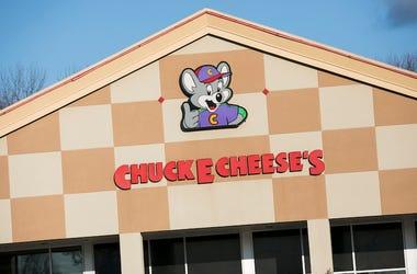 Chuck E. Cheese's, Restaurant, Exterior, Sign, Logo