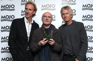 Genesis, Mike Rutherford, Phil Collins, Tony Banks, Red Carpet, Mojo Honours List, 2016