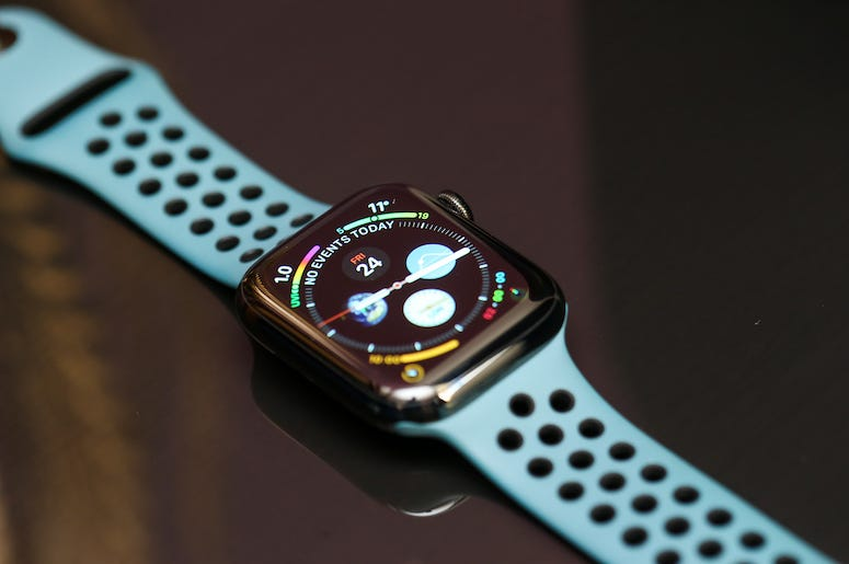 Apple Watch, Diary, Calendar, Blue Strap, Black Table, 2020