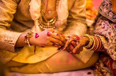 Indian Wedding, Bride, Groom, Traditional Ritual