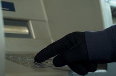 Man, Gloves, ATM, Cash, Pin Number, Keypad