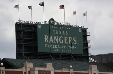 A general view of Globe Life Park in Arlington on September 29, 2019 in Arlington, Texas