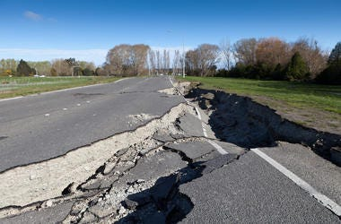 Earthquake, Road, Street, Damage,