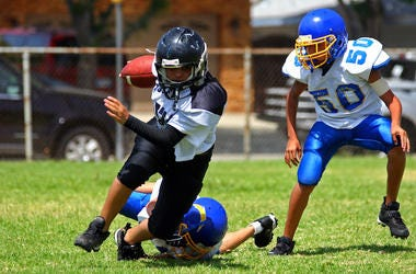Football, Team, Kids, Youth, Pee Wee, Running, Players