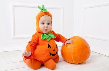 Baby, Halloween Costume, Pumpkin