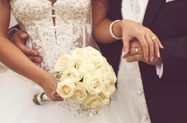 Bride, Groom, Hands, Reception, Bouquet