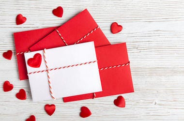 Valentine's Day, Cards, Red Heart