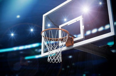 Basketball, Arena, Hoop, Cameras, Flashing