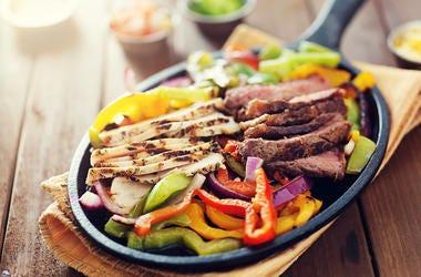 Fajitas, Food, Plate, Steak, Chicken