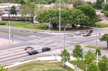 Crossroads, Intersection, Dallas, Cars, Daytime, Red Light