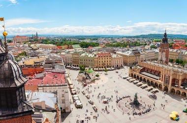 Central Square, Sukiennice, Krakow, Poland