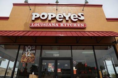 Storefront of Popeye's Chicken restaurant