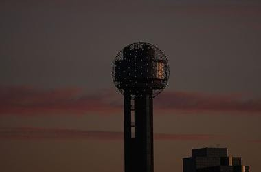 The Hyatt Regency Hotel and Reunion Tower at sunset on January 12, 2009 in Dallas, Texas.