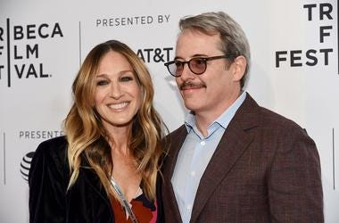 "NEW YORK, NY - APRIL 22: Sarah Jessica Parker and Matthew Broderick attend a screening of ""To Dust"" during the 2018 Tribeca Film Festival at SVA Theatre on April 22, 2018 in New York City"