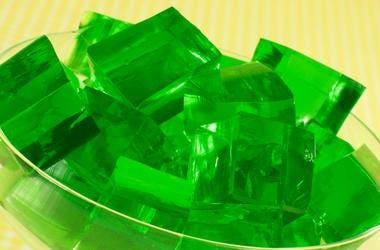 Bowl of green Jello